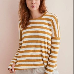 Aerie real soft striped long sleeve Tee xs